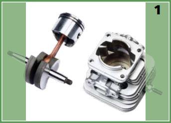 Decespugliatore Oleomac BC 380 S pistone