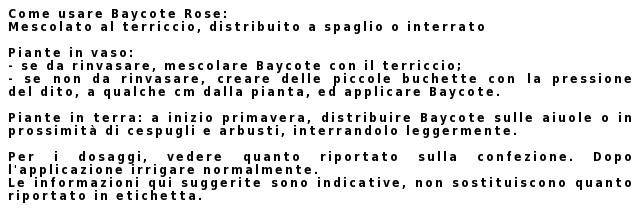 Baycote Rose Concime istruzioni
