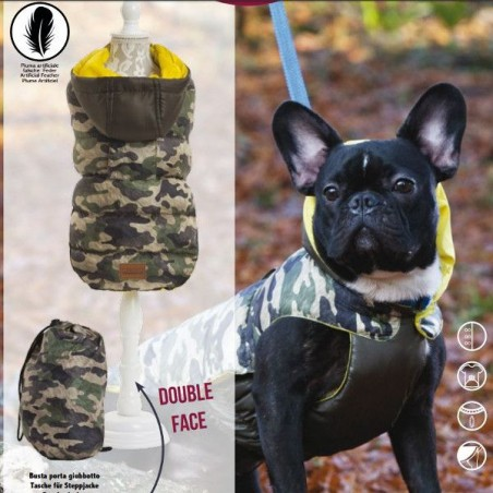 Piumino per cani Imbottito LIGHT WEIGHT MILITARY CROCI