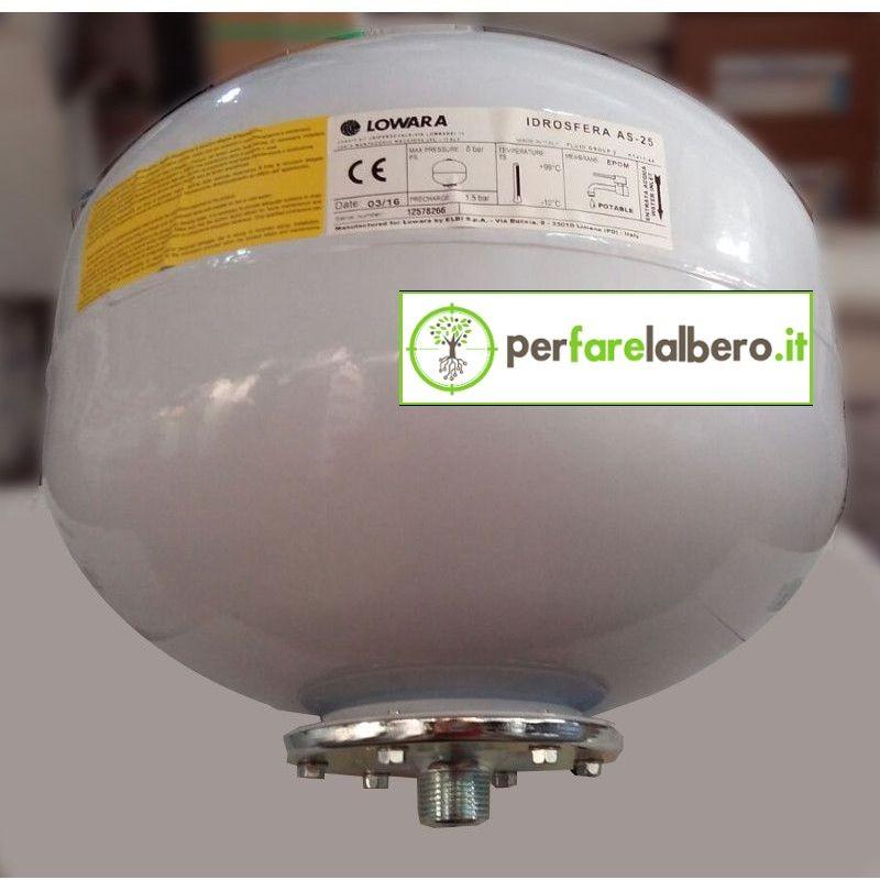 Serbatoio sferico per Autoclave LOWARA LITRI 24 AS-25