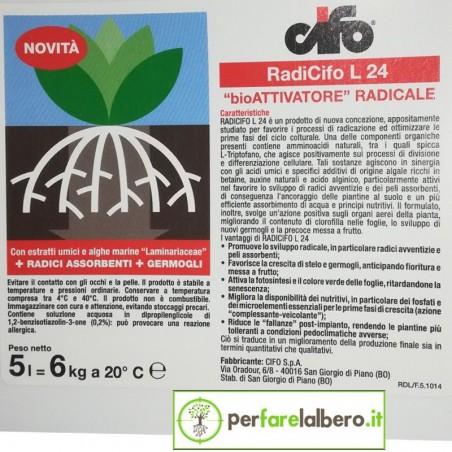 RADICIFO L 24 concime organico azotato con estratti umici da leonardite 6 kg