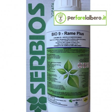 Bio 9 Rame Plus Serbios Concime BIO microelementi Rame Manganese Zinco 1 kg