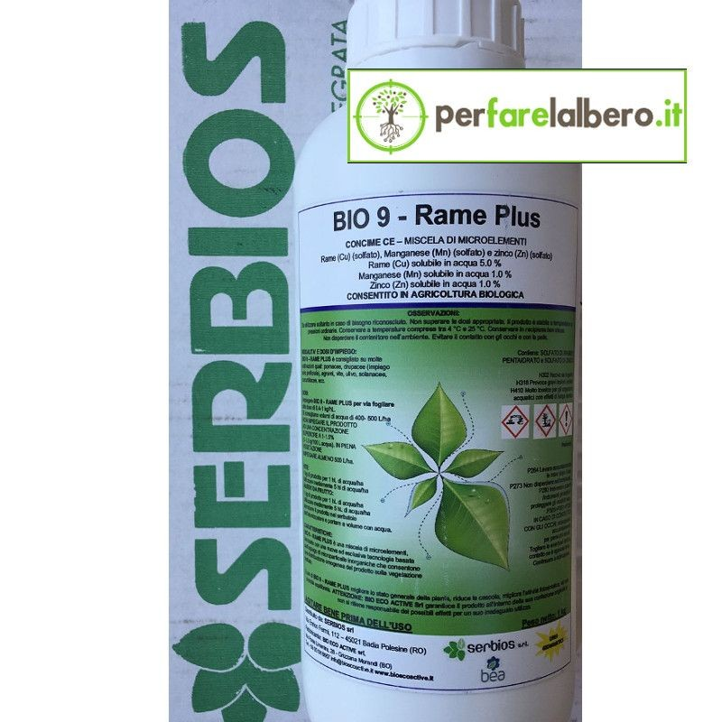 Bio 9 Rame Plus Serbios Concime microelementi Rame Manganese Zinco 1 kg