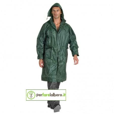 54 V Logica Cappotto impermeabile lungo caccia e pesca in nylon verde