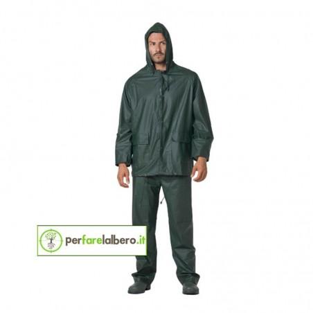 SMILE Logica giacca e pantalone impermeabile antipioggia traspirante