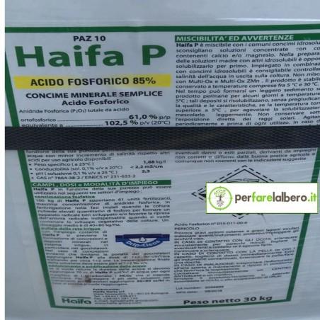 HAIFA P Concime per fertirrigazione Acido Orto fosforico 30 kg