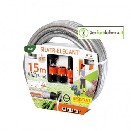 Kit Tubo da giardino 15 M Claber Silver Elegant