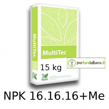 Haifa MultiTec Concime idrosolubile NPK 16.16.16 + Me per fertirrigazione 15 kg