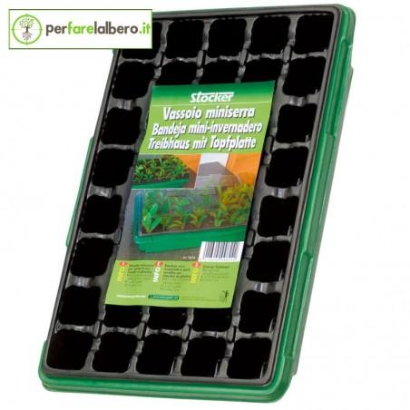 Vassoio miniserra con 12 vasetti Stocker 9623 semenzaio per talee e piantine