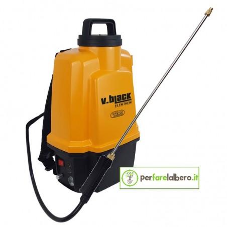 Pompa irroratrice Volpi elettrica 12L V. Black Elektron batteria al litio