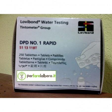 DPD N.1 RAPID pastiglie analizzatore Cloro e pH