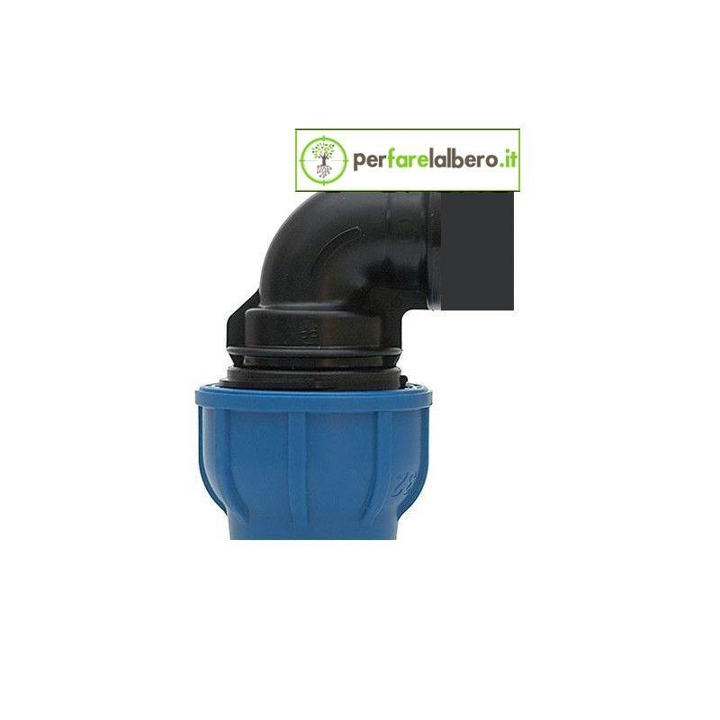 Raccordo ad alta pressione Gomito a 90° con derivazione  fil. femmina 918