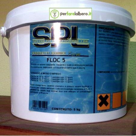 FLOC 5 Flocculante per piscine in pastiglie 5 kg