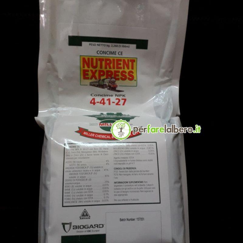 Nutrient Express Biogard concime NPK 4-41-27 peso 5 libbre (2,268 kg)