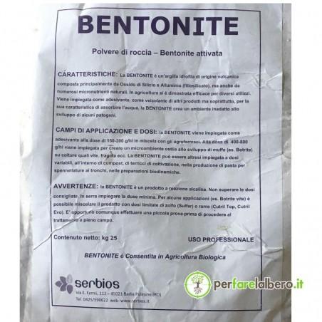 Bentonite Micronizzata Serbios argilla idrofila di origine vulcanica 25 kg
