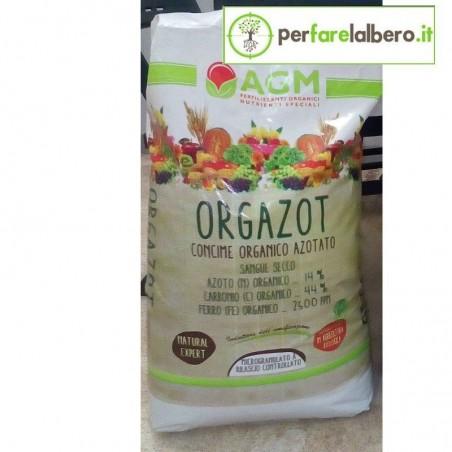 ORGAZOT Micro GR Concime Organico Azotato Sangue Secco Granulato - 25 kg