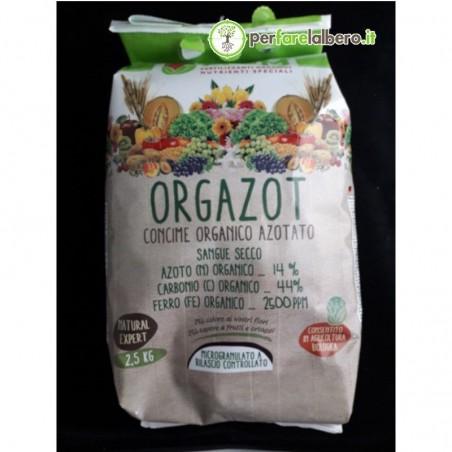 ORGAZOT Micro GR Concime Organico Azotato Sangue Secco Granulato - 2,5 kg
