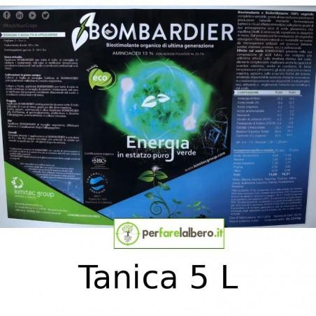 Bombardier Concime idrosolubile Biostimolante organico completamente vegetale - Tanica da 5 L