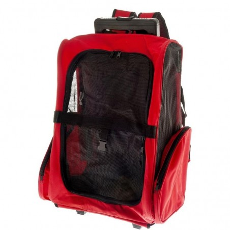 Trasportino multiuso Trolley FUSS-TRAVEL EASY rosso Ferribiella