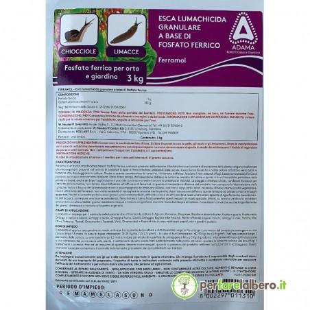 Esca Lumachicida Granulare Ferramol fosfato ferrico PfnPO