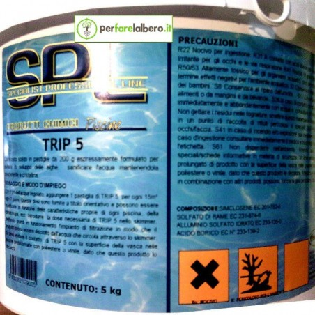 TRIP - Disinfettante Antialghe per piscine - 5 kg