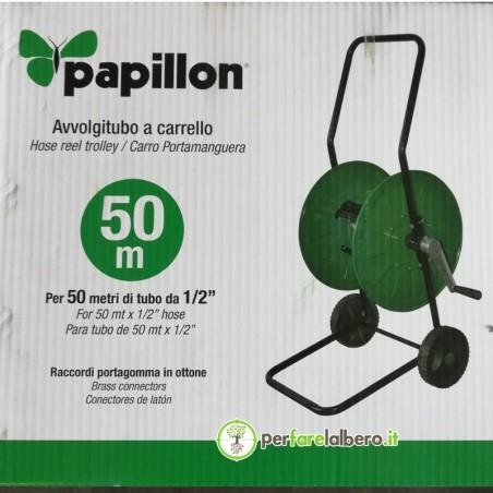 """Avvolgitubo a carrello Papillon per tubo da mezzo pollice - per 50 metri di tubo da 1/2"""""""