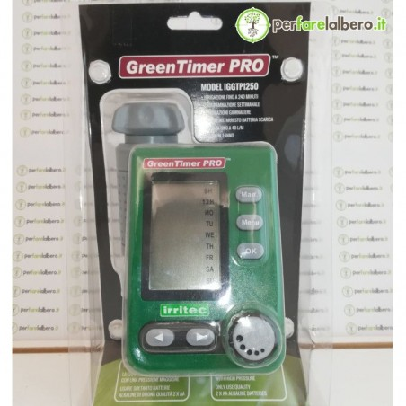 Green Timer Pro Irritec centralina a batteria da rubinetto con tastiera staccabile e display