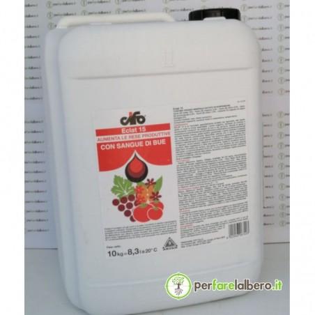 Eclat 15 Concime organo-minerale azotato in ospensione con sangue di bue 100% naturale 10 Kg