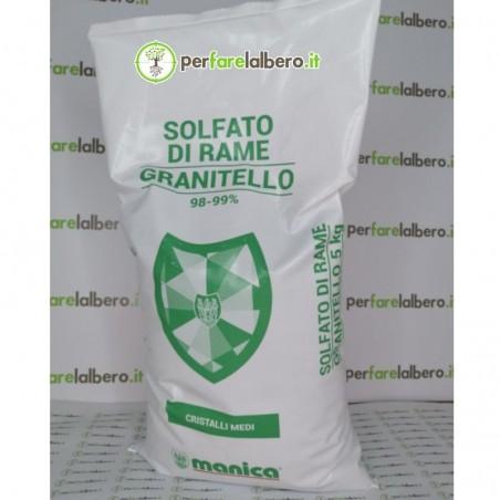 Solfato di Rame Granitello Manica in cristalli medi solubili