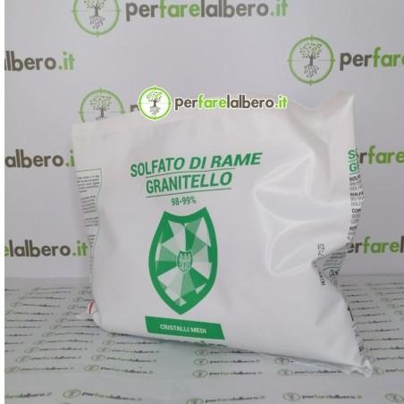 """Solfato di Rame """"Granitello"""" in cristalli medi solubili"""