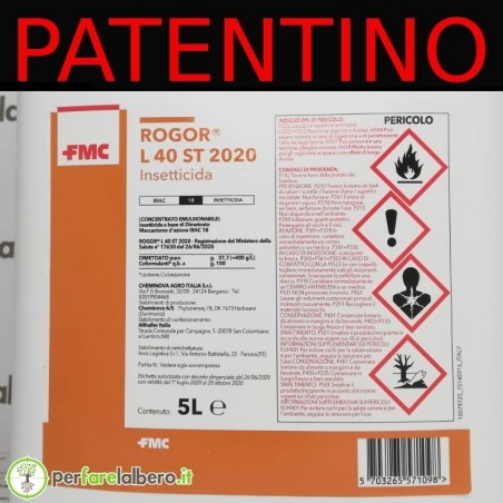 Rogor L 40 ST 2020 Insetticida dimetoato 5 L