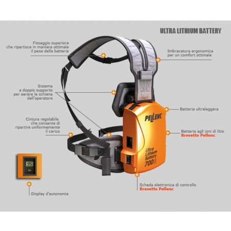 PELLENC Batteria al Litio Ultra Lithium Battery (ULiB) 700