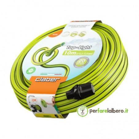 Top-Light Claber Tubo da giardino leggero anti-torsione ecologico - Lunghezza del tubo 10 metri