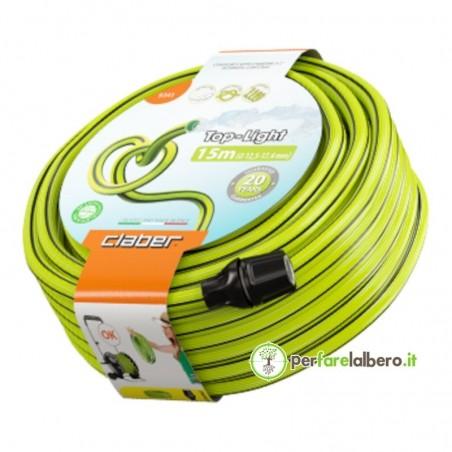Top-Light Claber Tubo da giardino leggero anti-torsione ecologico - Lunghezza del tubo 15 metri