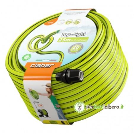 Top-Light Claber Tubo da giardino leggero anti-torsione ecologico - Lunghezza del tubo 25 metri