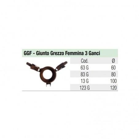 Giunto Grezzo Femmina 3 Ganci