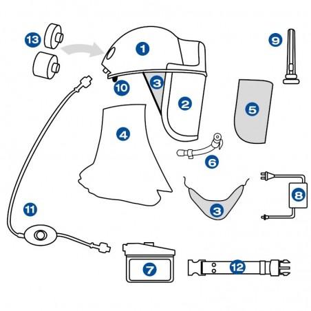 Ricambi per Casco AirFilter Spring Protezione