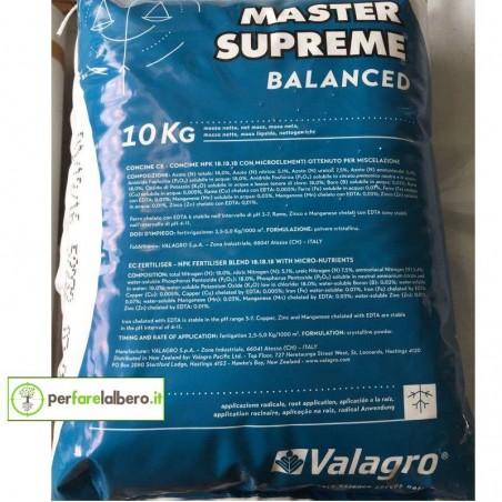 Master Supreme VALAGRO Concime idrosolubile 10 kg - BALANCED
