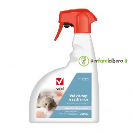 Vai via topi e ratti spray repellente pronto all'uso Vebi 750 ml
