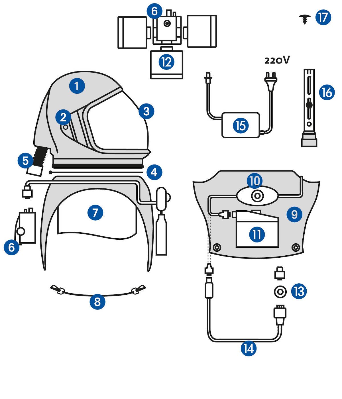 ricambi casco multifilter spring protezione